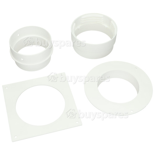 Crusader Round Wall Vent Kit & Reducer From 100mm To 80mm