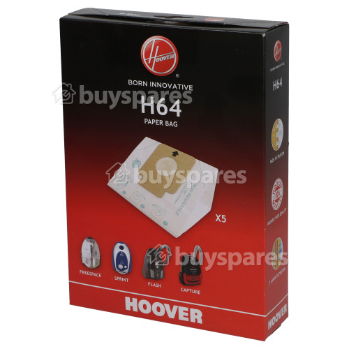 Hoover H64 High Filtration Dust Bags (Box Of 5)