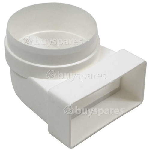 ITD Male Elbow Bend Vent Ducting: 90Deg. - 110MM X 54MM