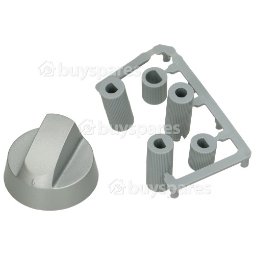 Universal Multifit Cooker Control Knob - Silver