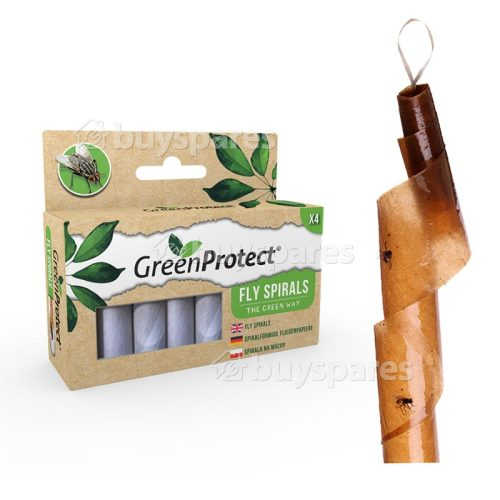 Green Protect Fly Killer Spiral (Pack Of 4) (pest Control)