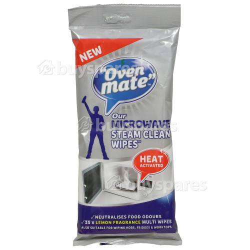 Oven Mate Microwave Steam Clean Wipes (Pack Of 25)