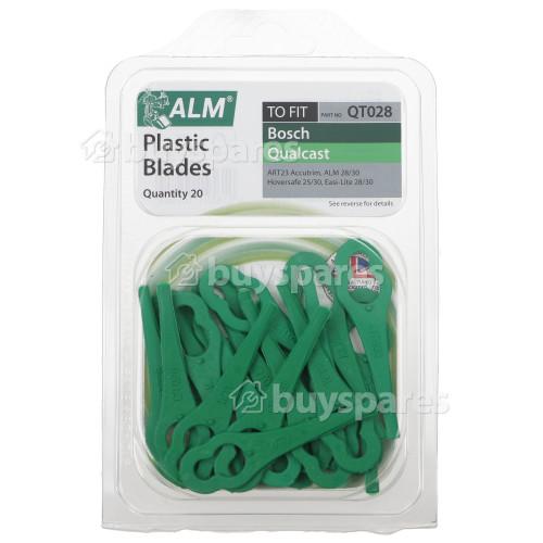 No Brand Plastic Blades : T/f Bosch Models, Florabest Models, Gtech Models, Homebase Models