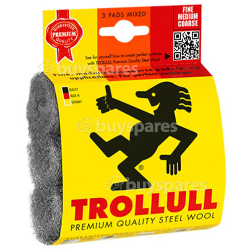 Trollull Premium Quality Mixed Grade Steel Wire Wool Scouring & Cleaning