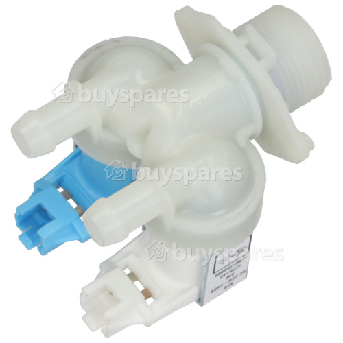 Hotpoint Double Solenoid Inlet Valve ; 180Deg. With Protected (push) Connector Tag Pins