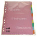 Genuine Staples Advantage A4 10 Part Subject Dividers
