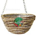 "Kingfisher 12"" Rope Hanging Basket"