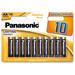 Genuine Panasonic AA Alkaline Power Batteries (Pack Of 10)