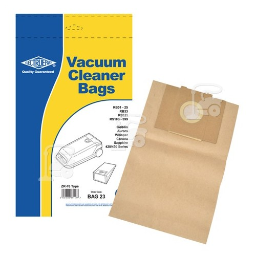Sac Aspirateur ZR76 (Paquet De 5) - BAG23 - Rowenta