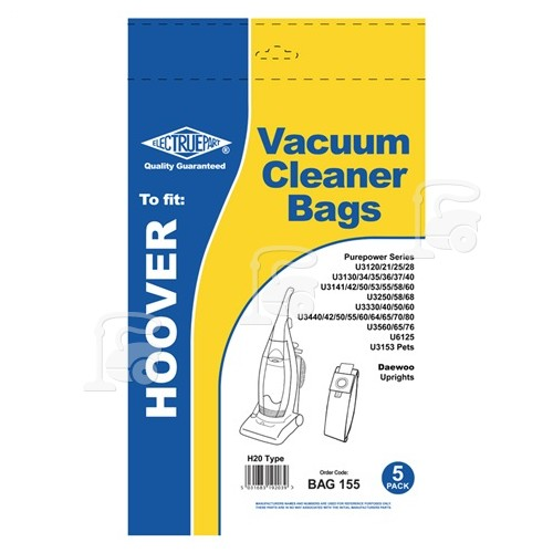 Hoover H20 Dust Bag (Pack Of 5) - BAG155