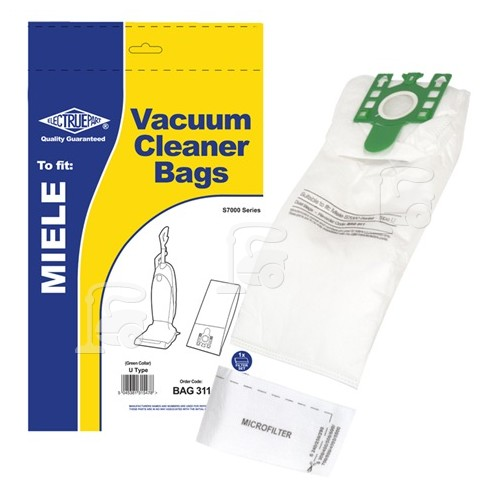 Miele 3D Type U Dust Bag (Pack Of 5 With 1 Cut To Size Filter) - BAG311