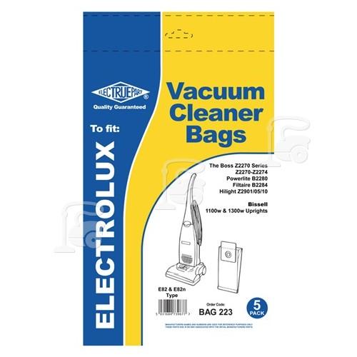 Electrolux E82 & U82 Dust Bag (Pack Of 5) - BAG223