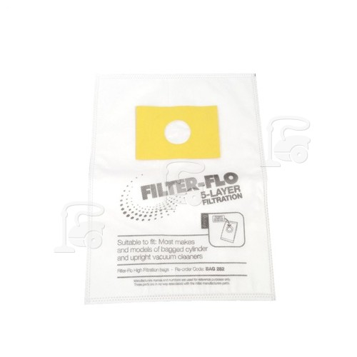 Russell Hobbs Filter-Flo Upright/Cylinder Vacuum Adaptor Bag (Pack Of 5)