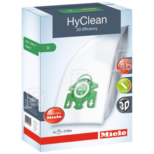 Miele 3D U Hyclean Vacuum Dust Bag (Box Of 4)
