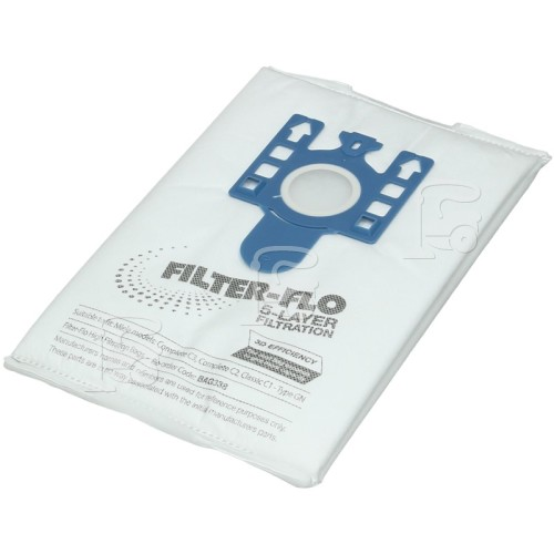 Miele GN 3D Filter-Flo Synthetic Dust Bags (Pack Of 4 With 2 Cut To Size Filters) - BAG338