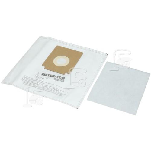 Dirt Devil Serie 731 Filter-Flo Syntetische Staubsaugerbeutel (5er Pack Mit 1 Filter) - BAG317