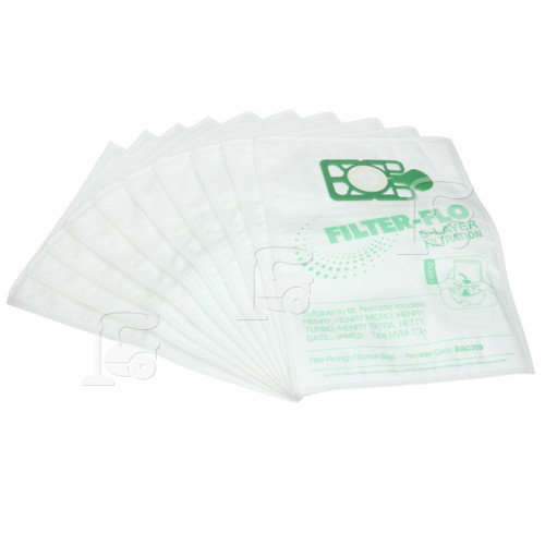 Numatic NVM-1CH Filter-Flo Synthetic Dust Bags (Pack Of 10) - BAG309