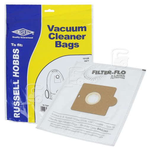 Russell Hobbs 76 Filter-Flo Synthetic Dust Bags (Pack Of 5) - BAG363