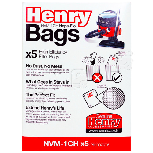 Numatic NVM-1CH 3 Layer Hepaflo Filter Dust Bag (Pack Of 5)