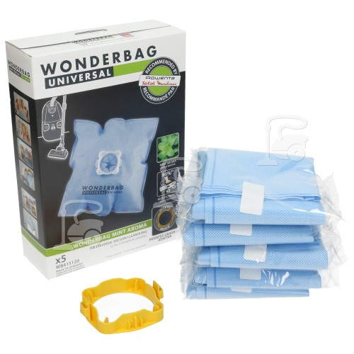 Rowenta Universal Wonderbag Mint Aroma Vacuum Bags (Pack Of 5) Calor Moulinex Rowenta Etc.