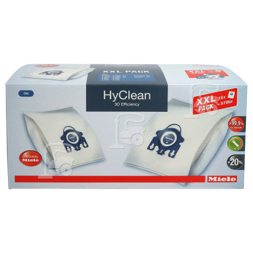 Miele GN HyClean 3D Efficiency Dust Bag & Filter XXL Pack