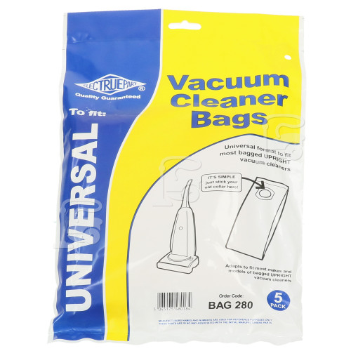 Russell Hobbs 17972 Universal Upright Vacuum Adaptor Bag (Pack Of 5) - BAG280