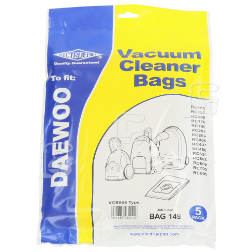 Samsung VCB005 Dust Bag (Pack Of 5) - BAG149