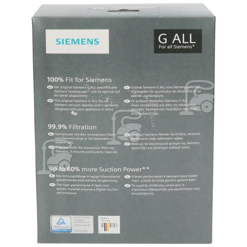 Bosch Neff Siemens PowerProtect Synthetische Staubsaugerbeutel - Typ G (4er Pack)