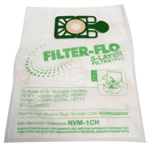 Sacs Aspirateur Synthétiques Filtre-flo Compatibles NVM-1CH (Paquet De 10) Karcher