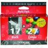 Lexmark Original Nr.17 & 27 Schwarz & 3-Farben Druckkopf Multipack Für Mäßigen Gebrauch