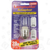 Lyvia 28w Es To G9 Lampholder Adaptor Ideal For Chandeliers& Glass Fittings Lyvia
