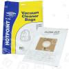 Sacs Aspirateur -Synthétiques Filtre-Flo BAG352 (Paquet De 5) Hotpoint