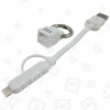 Apple 1,0m Lightning- & Mikro USB-Kabel - Weiß