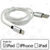 Cable Plateado - 1.0 Metros Apple