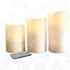 Bougies LED Sans Flamme - Lot De 3 - The Christmas Workshop