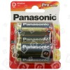 Panasonic D Pro Power Alkali Batterien 2er Blister