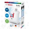 G ALL PowerProtect Kit Sacchetto Della Polvere E Filtro - Confezione Da 4 Bosch Neff Siemens