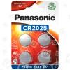 Piles Boutons Lithium CR2025 - Blister De 4 - Panasonic