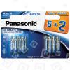 Piles Alcalines Evolta LR03 AAA Panasonic