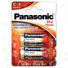 Piles Alcalines LR14 (C) Puissance Pro Panasonic