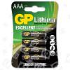 Piles Au Lithium AAA (Lot De 4) GP