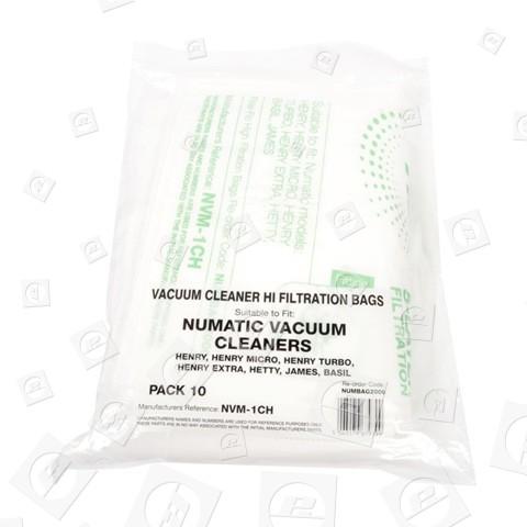 NVM-1CH Filter-Flo Synthetische Staubsaugerbeutel (10er Pack)