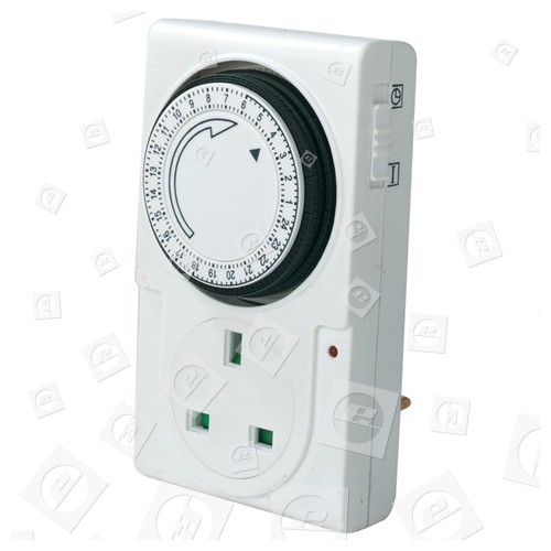 Minuteur Digital Programmable 24 Heures (prise Anglaise) Wellco