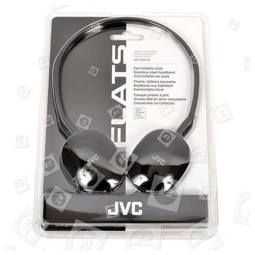 JVC HA-S160SW Leichter Stereokopfhörer, Schwarz