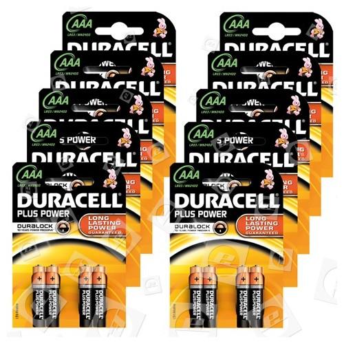 Piles Alcalines LR3 Plus Duracell