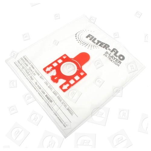 FJM Filter-Flo Synthetische Staubsaugerbeutel (5er Pack Einschl. 2 Zuschneidbaren Filtern) - BAG306