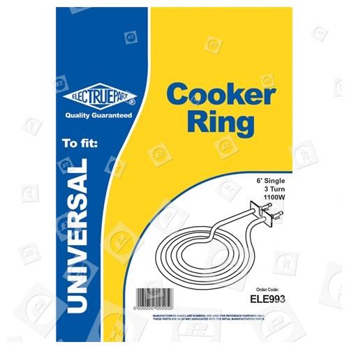 """Cuisinière Ring 6/"""" 1100 W Universal Anneau Plaque de cuisson élément"""