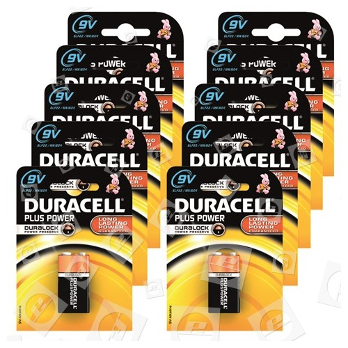 "Piles Alcalines 9V ""Plus Power"" Duracell"