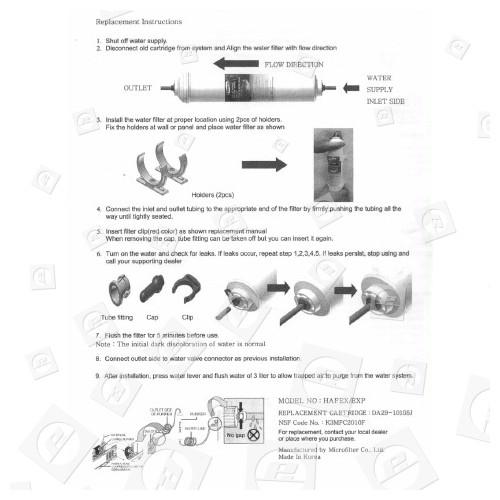 Filtre À Eau Externe Réfrigérateur Hafex/Exp Samsung