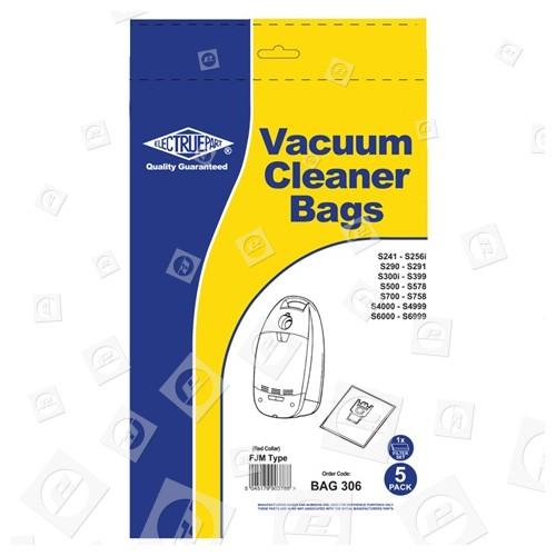 FJM Sacchetto Per La Polvere (confezione Da 5 Con 2 Filtri Di Dimensioni Regolabili Su Misura ) - BAG306 Blue Star